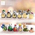 12/комплект Тоторо, аниме, Kawaii Миядзаки Малый Тоторо Кукла Украшения Небольшой Игрушки Diy Ассамблеи Бесплатная Доставка