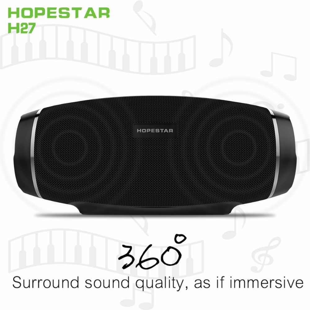 Hopestar H27 Nirkabel Bluetooth Speaker 3D Stereo Soundbar Kolom BOOMBOX Tahan Air Outdoor Subwoofer FM Radio PK Biaya Xtreme