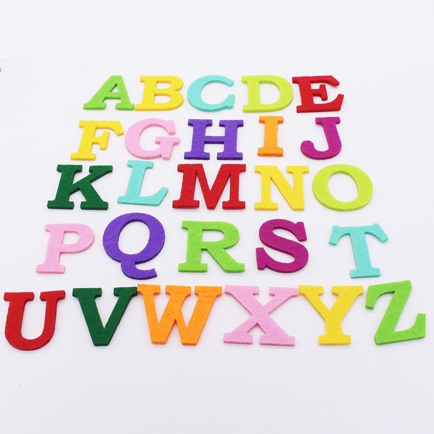 felt alphabet letter polyester fabric for sewing felt craft fabric for scrapbooking diy suppliesfieltro feltro mix