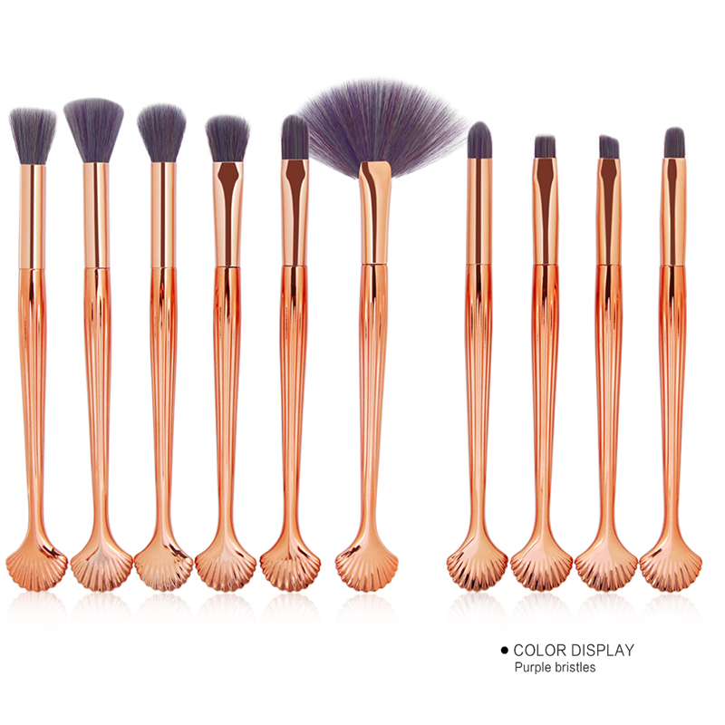 10Pcs Makeup Brushes Set Power Eye Shadow Brow Lip Concealer Fan Beauty Cosmetic Eyes Face Shell Make Up Brush Tool Kit 11.11 28