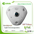 Hikvision  DS-2CD63C2F-IVS 12MP 4k Upgradable English version 360 degree panoramic view fisheye IP Network Camera Poe Outdoor