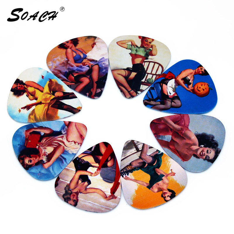 SOACH 10pcs/Lot 0.71mm thickness Factory direct Flirty retro guitar picks