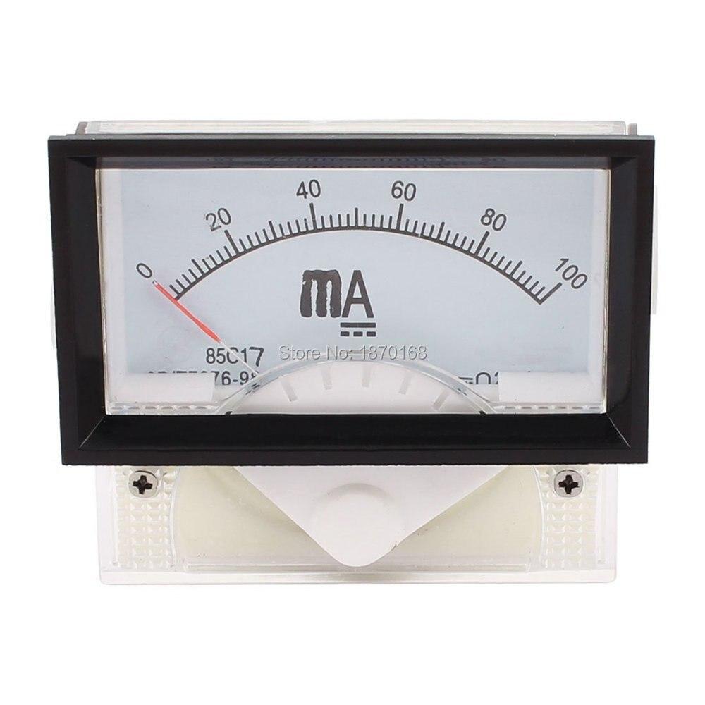 85C17 DC 1MA 5MA 10MA 20MA 30MA 50MA 100MA 200MA 300MA 500MA 1A 2A 3A 5A Class2.5 аналоговый панельный Амперметр Датчик амперметр