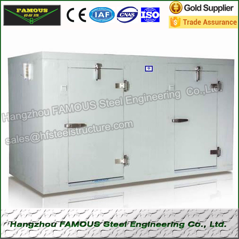 Polyurethane Cold Room Refrigeration Unit And Refrigeration Freezing Room , Modular Cold Storage For Food