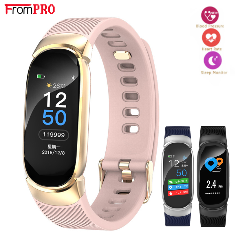 FROMPRO Smart Watch Men Women Outdoor Sport Fitness Bracelet Heart Rate Monitor Blood Pressure Oxygen Health Smart band QW16