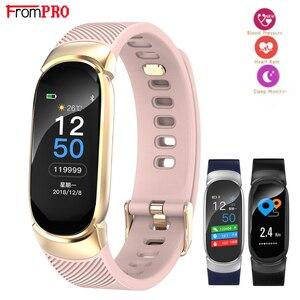 Image 1 - FROMPRO Smart Watch Men Women Outdoor Sport Fitness Bracelet Heart Rate Monitor Blood Pressure Oxygen Health Smart band QW16