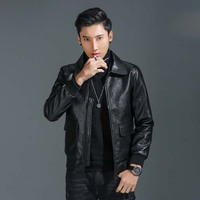 Men Leather Suede Gentleman Jacket Fashion Motorcycle PU Leather Male Winter Bomber Jackets Outerwear Faux Leather Coat J8020