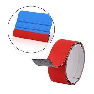 Image 5 - Foshio protetor de pano para janela, película de fibra de carbono à prova dágua com 3 camadas 100cm para raspar tinta e tecido, envoltório de carro feltro de feltro