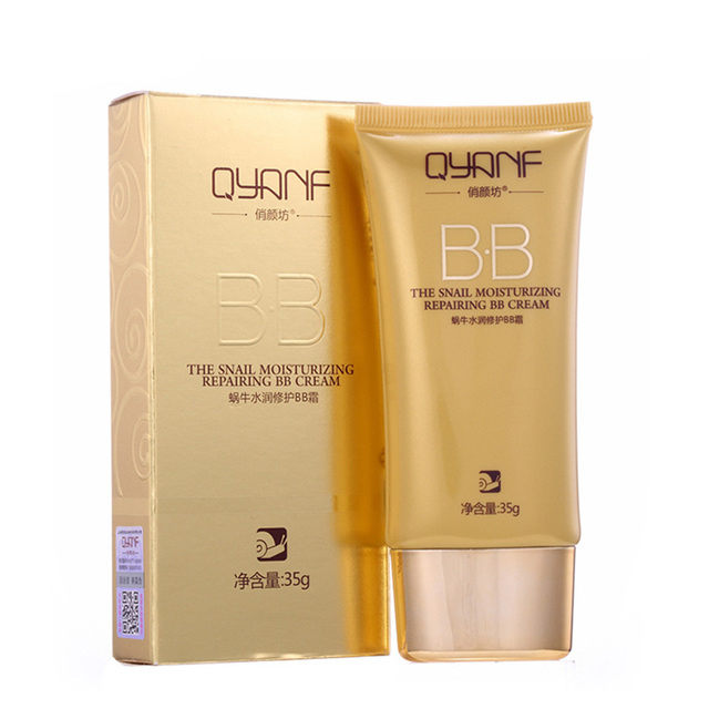 US $3 36 39% OFF|Facial Care Snail BB Cream Segregation Frost Cream Skin  Care Cosmetic Whitening Moisturing Compact Foundation Concealer Cream-in BB  &