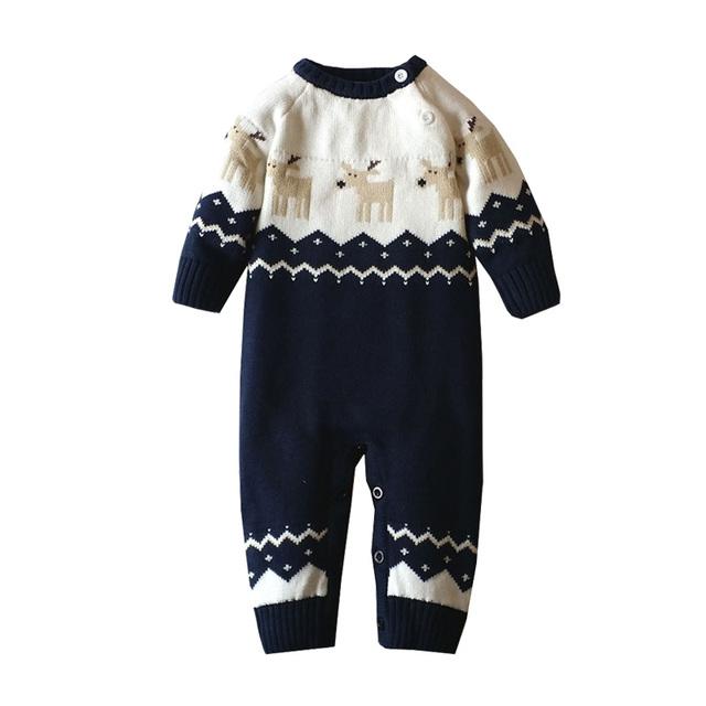 2016 Novos Macacão de Bebê Inverno Camisola de Algodão de Alta Qualidade a Roupa Do Bebê Recém-nascido Da Menina do Menino Roupas de Natal Veados Com Capuz Outwear