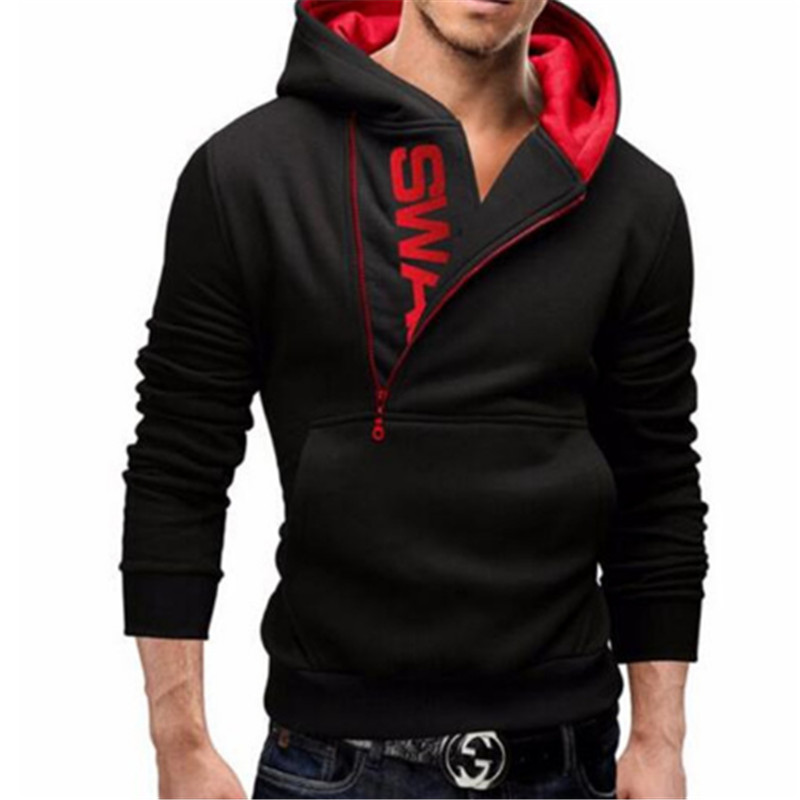 Men Hoodie Sweatshirt Long Sleeved Slim Fit Male Zipper Hoodies Assassins Creed Jacket Plus Size