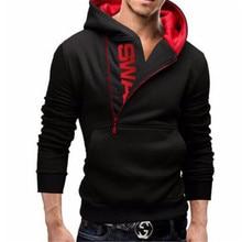 Для мужчин свитер с капюшоном длинными рукавами Slim Fit мужской толстовки на молнии Assassins Creed куртка плюс размеры повседневное кардиган