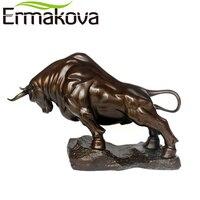 Ермакова 23,5 см латунь Wall Street бык фигурка большой размеры зарядки фондового рынка бык статуя фэн шуй скульптура офисный Декор