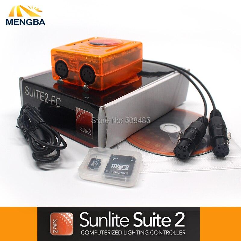 Профессиональный Сценический управления программным обеспечением первоклассное Suite2 FC DMX-USD контроллер DMX хорошо для DJ KTV вечерние светодиод...