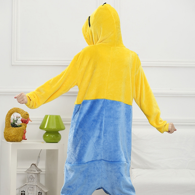 Adults Animal   Pajamas     Sets   Cartoon Sleepwear Cosplay Zipper Women Men Winter Unisex Flannel Minions   Pajamas