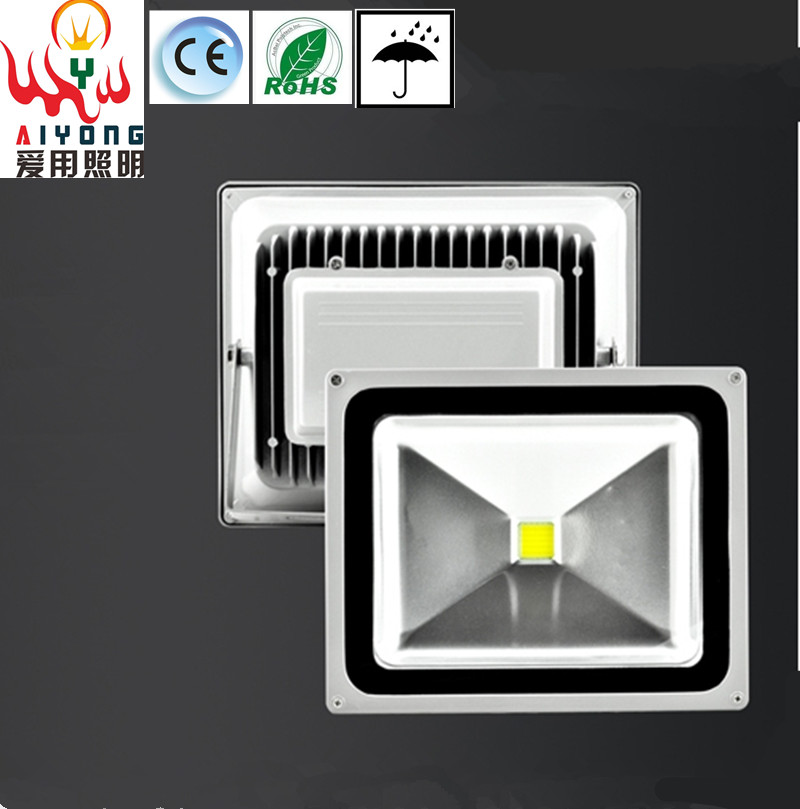 LED floodlight 50W waterproof outdoor advertising LED light projection lamp AC85-265V Park Plaza residential street lelight projection lamp 10w20w30w50w100w outdoor advertising project light water flooding