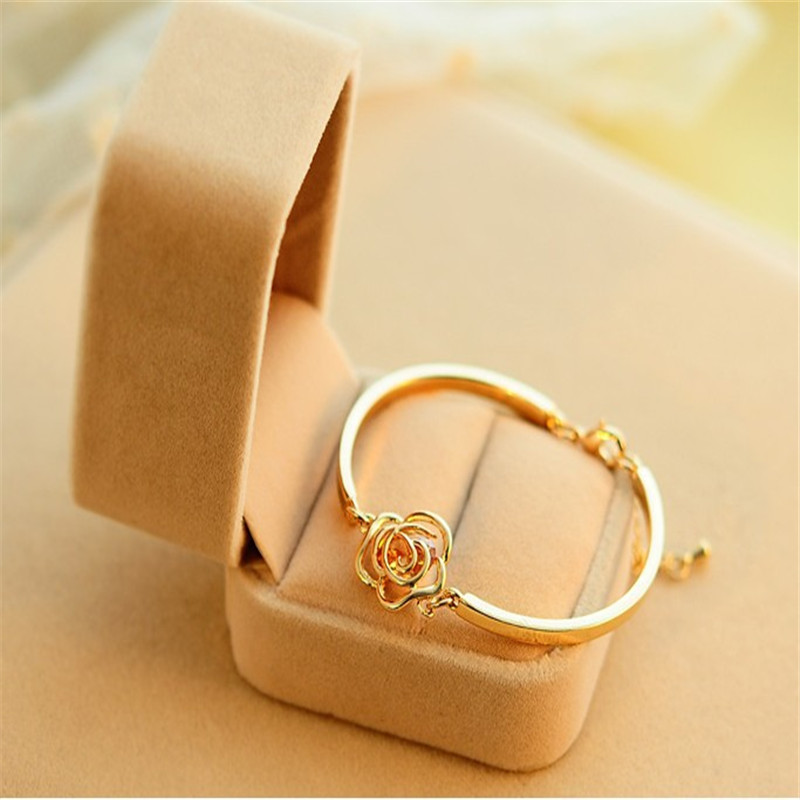 Sitaicery Luxury Rose Gold Stainless Steel Bracelets Bangles Female Charm Bracelet For Women Party Jewelry Mother 39 s Day Gift in Bangles from Jewelry amp Accessories