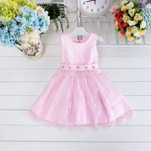 2015 New Arrival Wholesale Kid girl's dress summer style lace dress flower girls dress princess dress