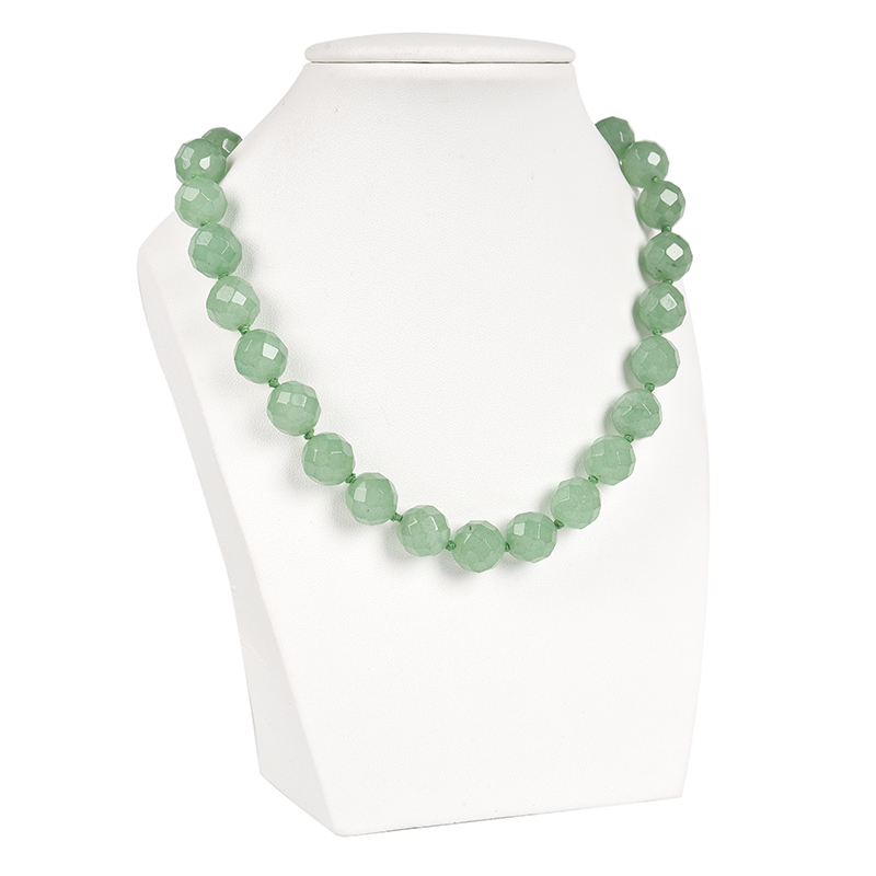 Fine Jewelry Obliging 18 Inches Green In The Transparency 12 Mm Dong Ling Jasper Necklace Fashion Womens Anniversary Necklaces