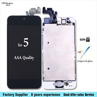 Mobymax Full LCD Assembly For IPhone 5s 5c 5 SE Touch Screen Digitizer Display Home Button