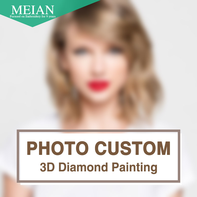 Meian, DIY, Diamond Embroidery, Photo custom, 5D, Private custom, Diamond Painting, Cross Stitch, 3D, Diamond Mosaic, Decoration, Christmas