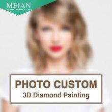 Meian, diy, bordado de diamantes, foto de encargo, 5d, privado personalizado, pintura de diamantes, de punto de cruz, 3d, mosaico de diamantes, decoración, navidad