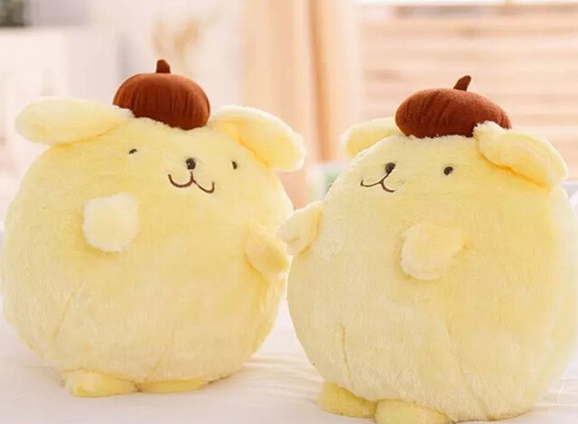 Candice guo plush toy stuffed doll cartoon lovely Pom Pom Purin fat dog puppy coral fleece car baby blanket cushion pillow gift nooer kawaii cartoon dog plush toy fluffy soft stuffed animal pomeranian doll lovely dog doll for kids children girls gift