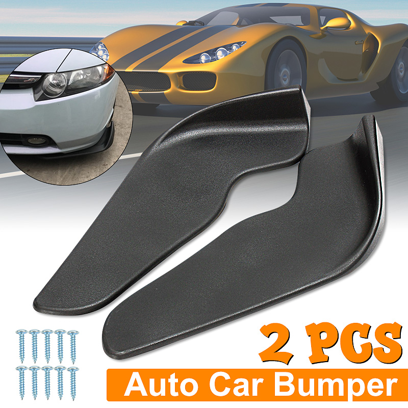 2 pièces noir ABS Fit avant pare-chocs lèvre séparateur aileron Air couteau Auto corps Kit voiture Spoiler accessoire