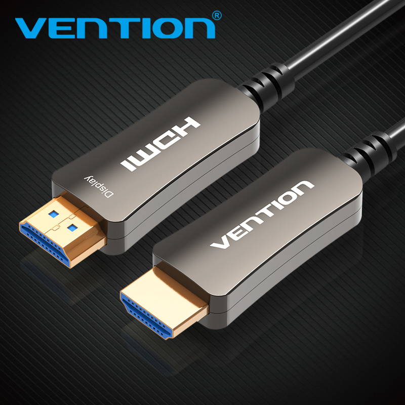 Vention HDMI Cable Optical Fiber HDMI 2.0 Male To Male Cable Support 4K 3D for HD TV LCD Laptop PS3 Projector Computer Cable цена 2017