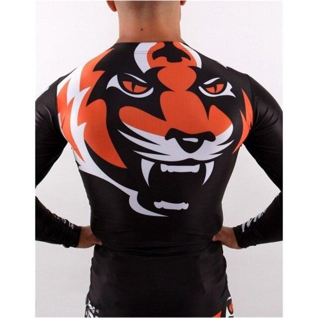 SUOTF MMA Boxing Tiger domineering tiger head pattern cotton short-sleeved sports fitness training muay thai boxing shorts mma