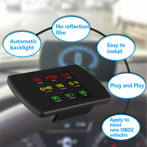 Image 3 - OBD2 Gauge Car HUD Head Up Display Smart Digital Meter HD Digital Display GPS Speedometer Fuel Consumption Temperature RPM