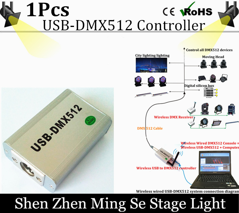 DHL shipping High Speed Wireless FreeStyler USB-DMX512 Controller Software,3D USB DMX512 Controller For Stage Light,Beam Light dhl free shipping dmx wireless module dmx wireless pcb