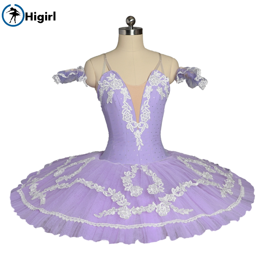 Free shipping purple Flower Performance Clssical Ballet Tutu Costume Stage Platter tutu Pancake Women BT8984