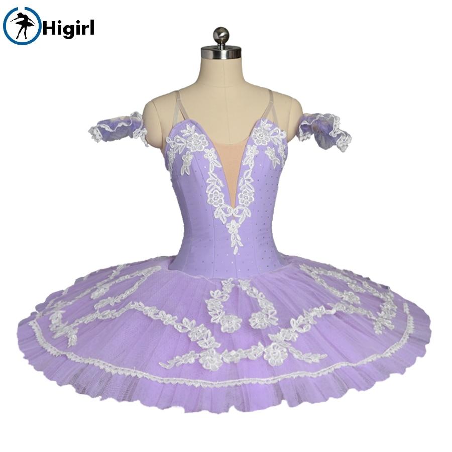 Free shipping purple Flower Performance Clssical Ballet Tutu Costume Stage Platter tutu Pancake Women BT8984