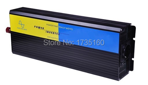 цена на High quality 1500w 1500W watt Pure Sine Wave Power Inverter Converter 12v DC to 220V AC Car inverter Peak power 3000w