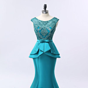 Image 5 - FADISTEE חדש הגעה אלגנטי ארוך שמלת ערב שמלות המפלגה vestido דה noiva פורמליות אפליקציות קריסטל ארוך סגנון