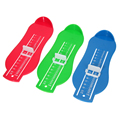 Infant Foot Measure Gauge Adjustable Plastic ABS Kids Children Shoes Size Measuring Ruler Tool Red, Blue, Yellow