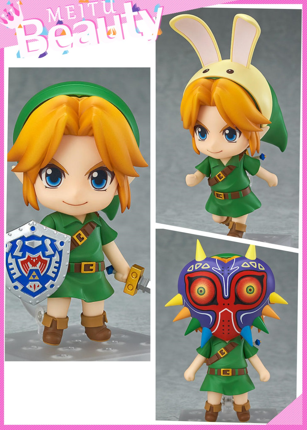 Newest Magic mask Link Collectible Model Toys Anime Doll .The Legend of Zelda 10cm Boxed Nendoroid PVC Action Figure Toys .