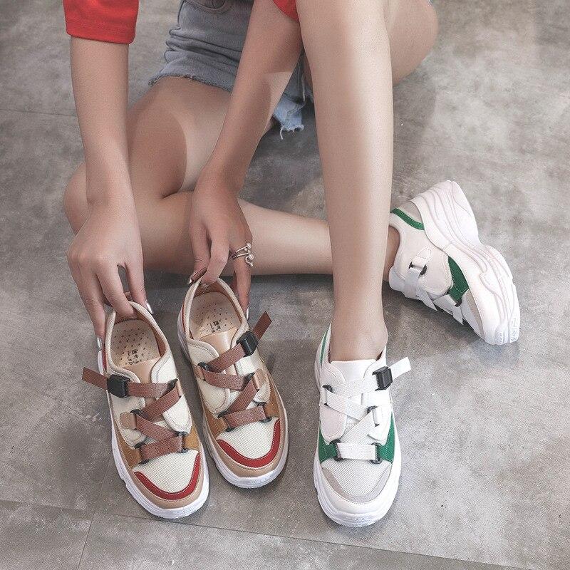 2019 printemps nouveau Designer chaussures à semelles compensées femme plate-forme baskets décontracté femme chaussures femme