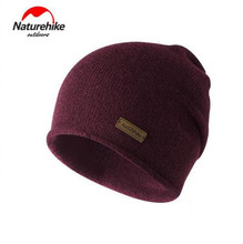 Naturehike Outdoor Sports Caps Windproof Wool Knitted Thermal Hiking Caps Skiing Cycling Running Caps For Women Men цена