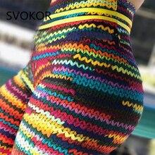 SVOKOR empujar las mujeres Legging poliéster tobillo longitud Jeggings estiramiento novela de la impresión de alta cintura Gilr Legging salud