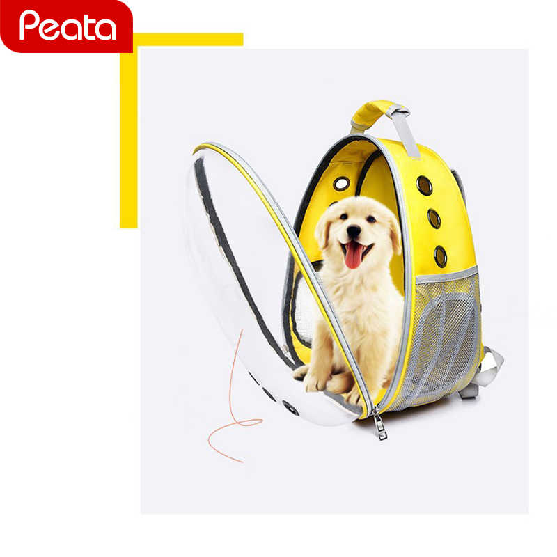 82aa74b8d0 Transparent Space Capsule Bag Outdoor Cat Backpack For Kitty Puppy Backpack  Cat Carrier Small Dog Carrier