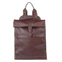 Натуральная кожа унисекс повседневный рюкзак ручной работы большие мягкие сумки для ноутбука
