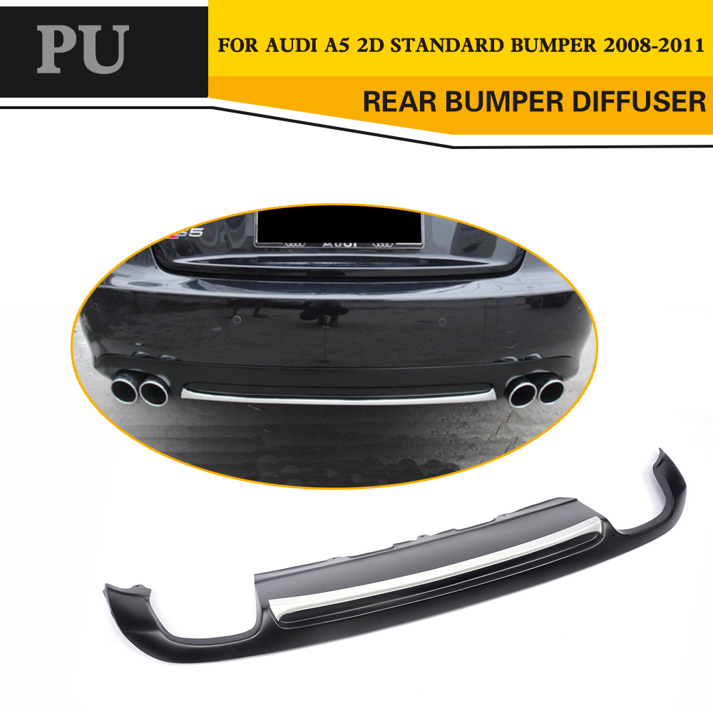 PU Matt Black Painted S5 Style A5 Auto Car Rear Bumper Lip Diffuser For Audi A5