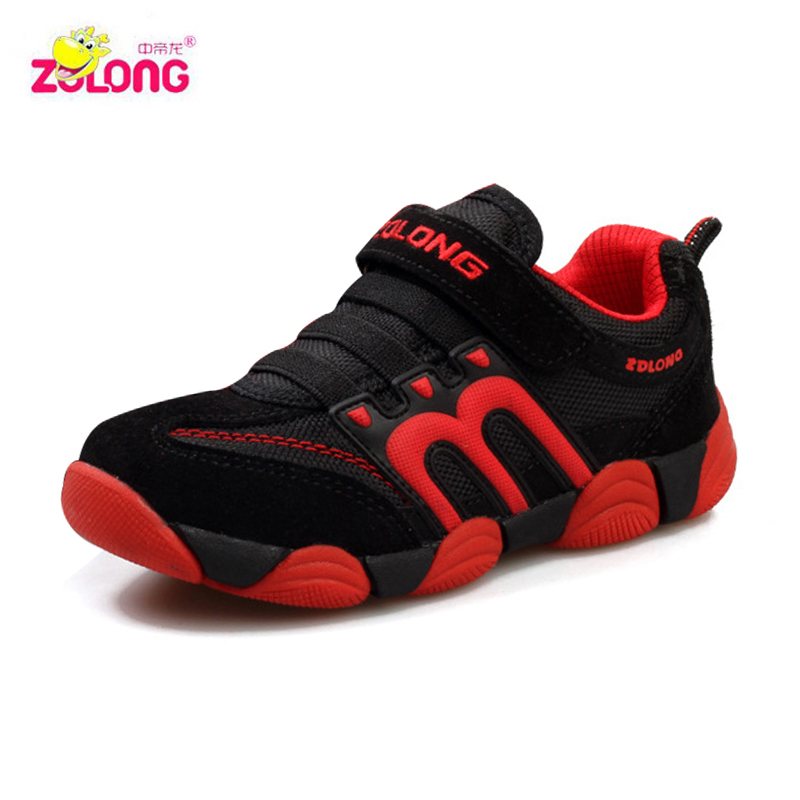 2019 spring and summer female boy and girl shoes children   genuine leather sport   running  shoes male  kids sneakers