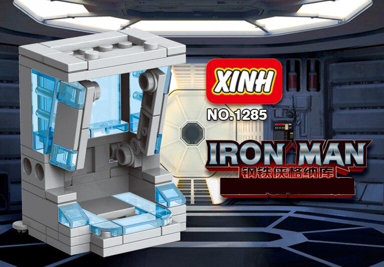 Single Sale Building Blocks Super Heroes Bricks Iron Man GENAKU Hall Invincible Action Figures For Children Model Toys XH 1285