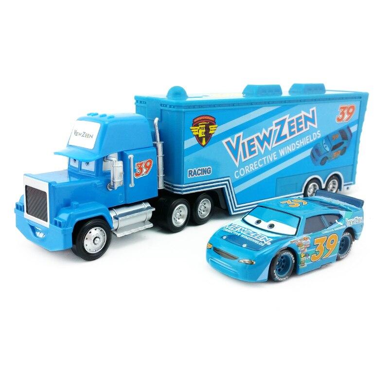 Disney Pixar Car No 43 King Truck Mack Launcher Toy Model Car 1 55