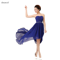 2015 Hi Lo Fashion Sexy Women Bridesmaid Dresses Party Prom Formal Wedding Dress Costume Back Design