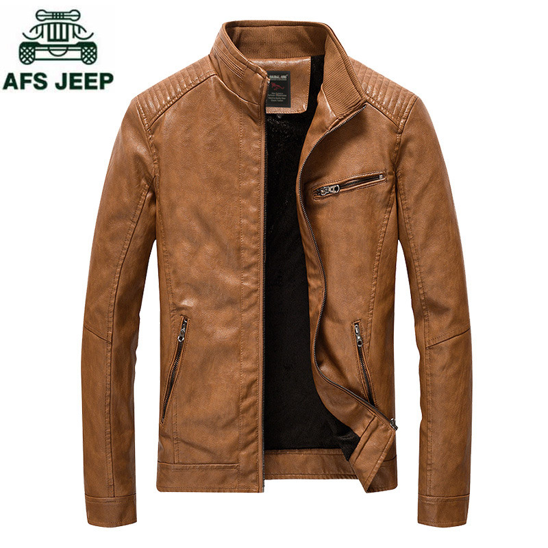 Brand PU leather jacket Men Plus Size M-5XL jaqueta de couro masculino washed fleece motorcycle leather jacket male casual Coat fleece graphic embroidered pu leather jacket