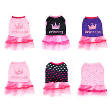 Summer Tulle Princess Pet Dress Pink Girl Clothes For Small Medium Dogs Chihuahua Yorkie Clothing Cat Costume Puppy Kitten Skirt(China)